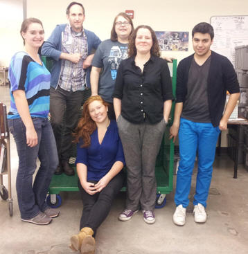 From left to right: Katie Elstad, Josh Alper, Mandy Stevens (sitting), Tara Gooden, Sarah Troy, Jesus Espinoza