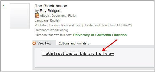 HathiTrust Digital Library Full View