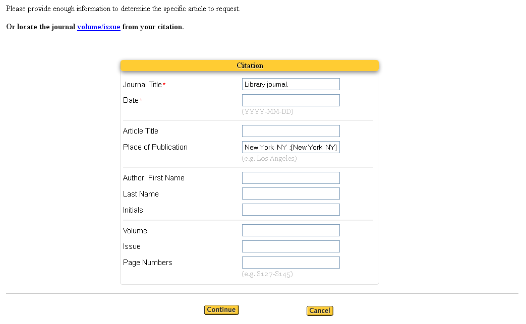 Request 2 Citation Form