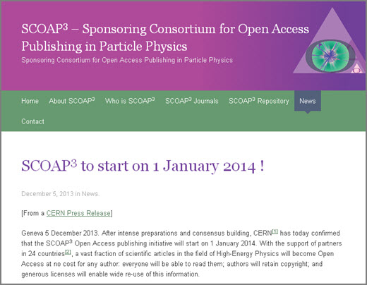 SCOAP3 website