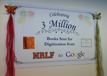 NRLF Celebrates 3 Millions Books Sent to Google