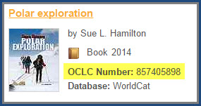 See the OCLC # in Brief Display,