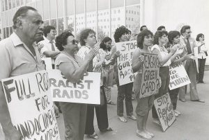 Immigrant raid protest. 05/06/1982. From Center for Sacramento History Photo Collection