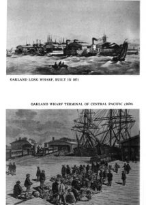 Two images of Oakland Wharf