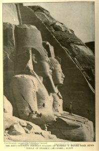 Page with photo of Egyptian monument