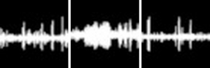 Audio recordings sound wave