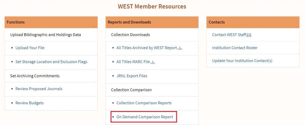 AGUA On Demand Comparison Report